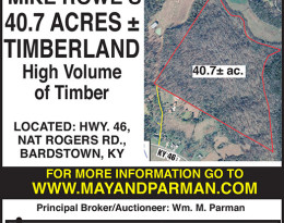Coming Auction – Timberland In Bardstown, KY.