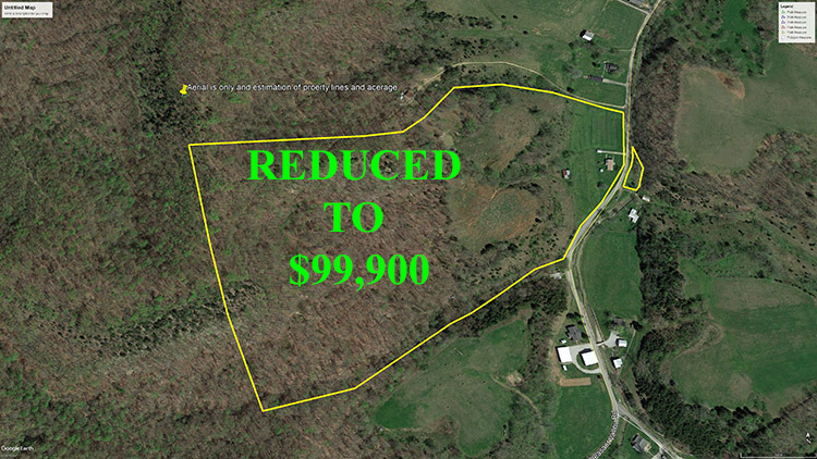 56 Acres With Double Wide Mobile Home - Homes and land for sale in