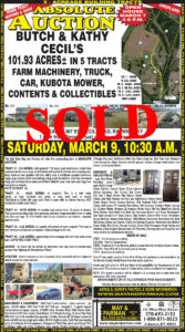 Coming Auction Home and 103.57 Acres in Raywick KY.