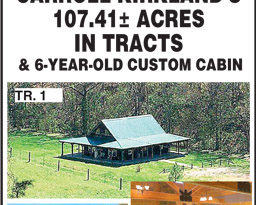 Coming Auction – Cabin And 107 Acres In Tracts