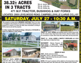 Coming Auction – Home, Shops And 41 Acres M/L.