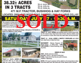 Sold – Home, Shops And 41 Acres M/L.