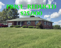 Reduced $25,000 – Brick Ranch Home And Shop On 1.7 Acres M/L.