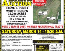 Absolute Auction – 72.28 Acres M/L. Bradfordsville KY.
