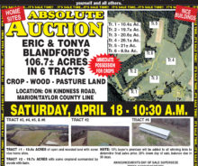 Coming Absolute Auction – 106.7 Acres M/L.
