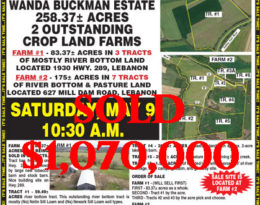 Sold – 2 Farms At Absolute Auction