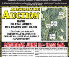 Absolute Auction – 60.9 Acres With Cabin