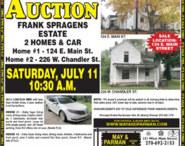 Absolute Auction – 2 Homes In Lebanon KY.