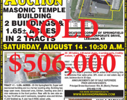 Sold – Absolute Auction – 2 Buildings & 1.7 Acres In 2 Tracts