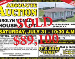 Sold – Absolute Auction – House and Lot