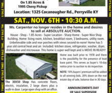 Coming Absolute Auction